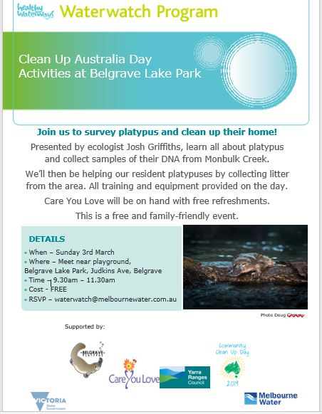 Cleanup Oz day event 2019