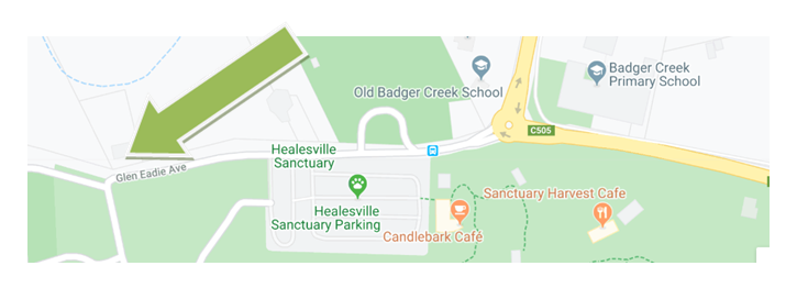 Map for meeting Healesville